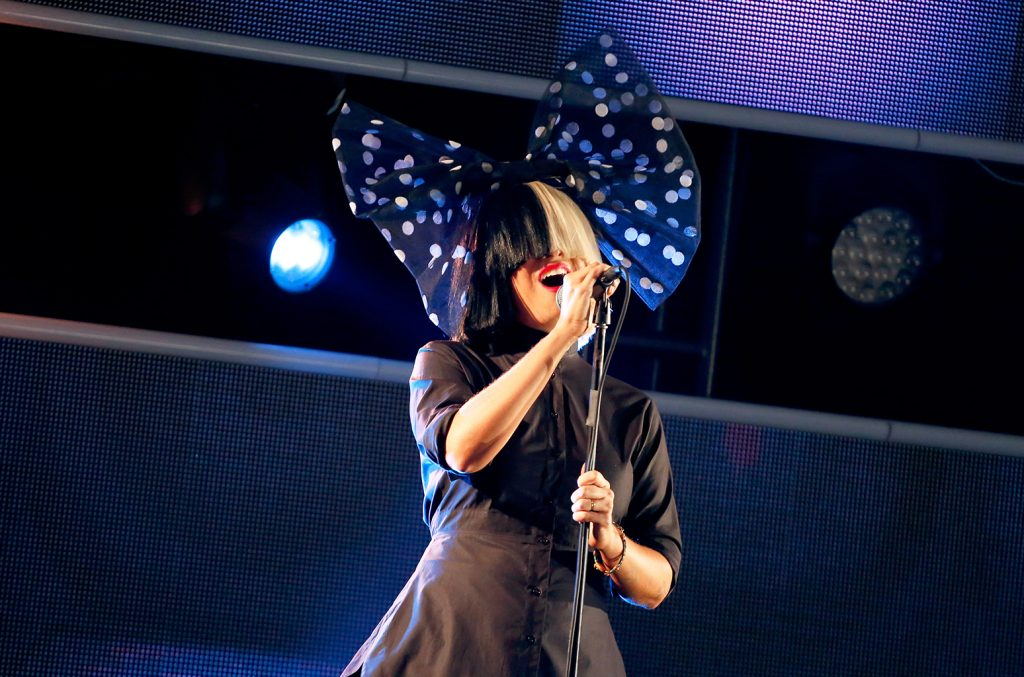AUSTIN, TX - MARCH 13: Singer Sia performs onstage at Samsung Galaxy Life Fest at SXSW 2016 on March 13, 2016 in Austin, Texas. (Photo by Rick Kern/Getty Images for Samsung)