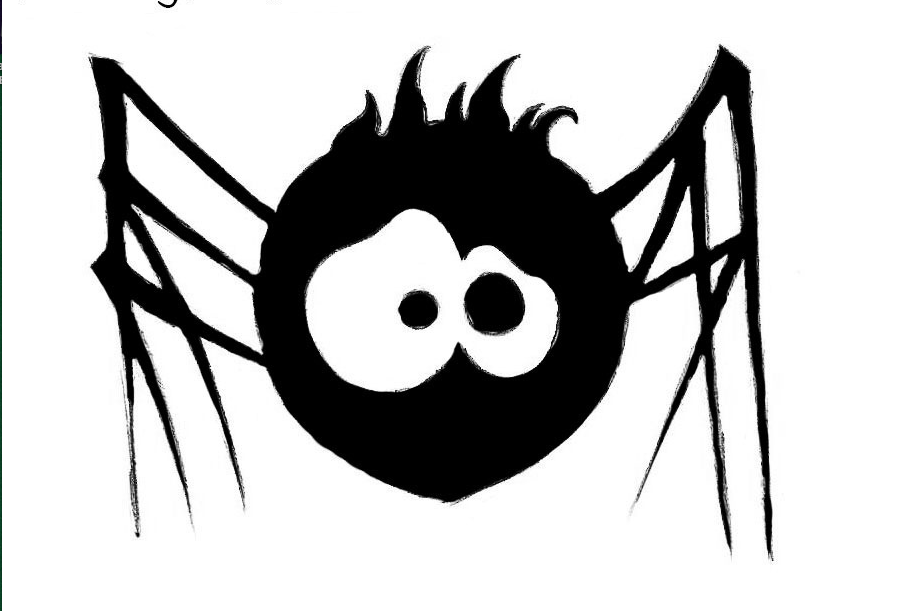 drawing spider