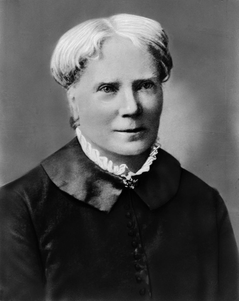 ca. 19th century --- Head and shoulders portrait of Elizabeth Blackwell (1821-1910), the first woman (in 1849), to receive a medical degree in the U.S. Undated photograph. --- Image by © Bettmann/CORBIS