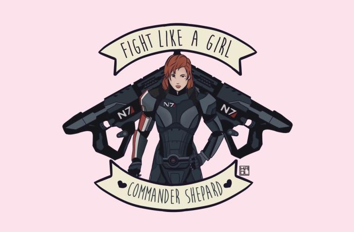 fight-like-a-girl-commander-shepard