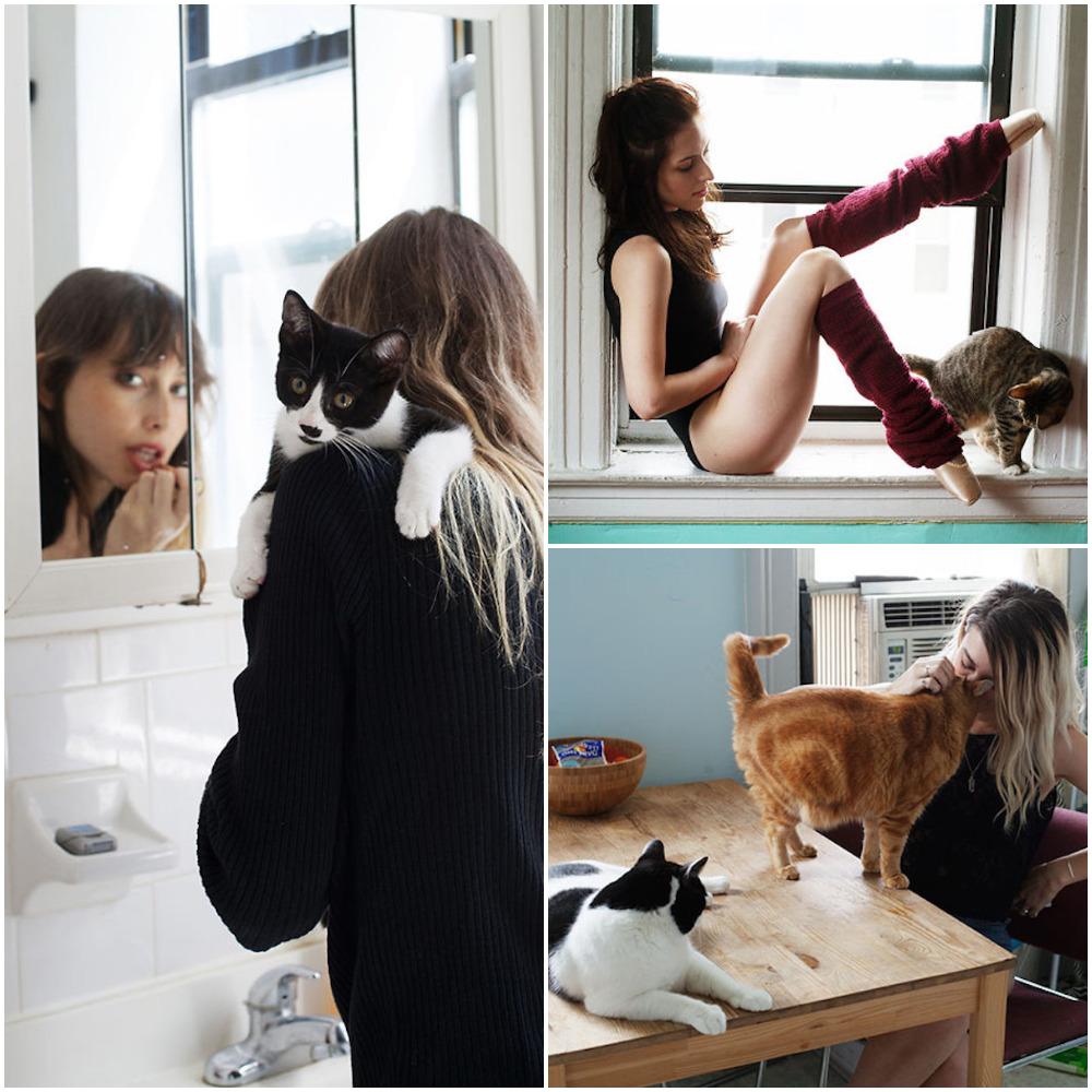 seks djevojke maca