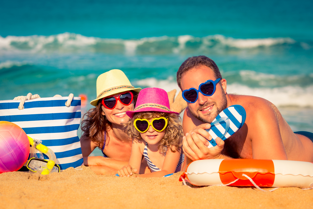 porodica-na-plaži